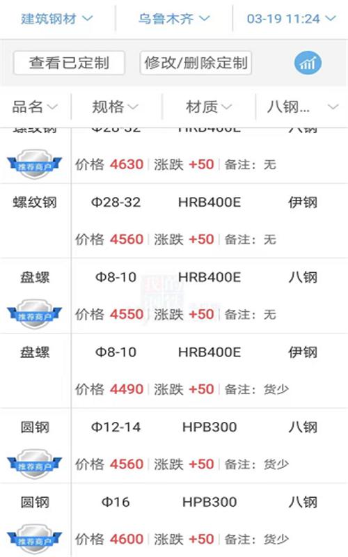2021.3.19钢材价格